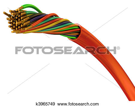 Stock Photograph of Copper wires k3965749.