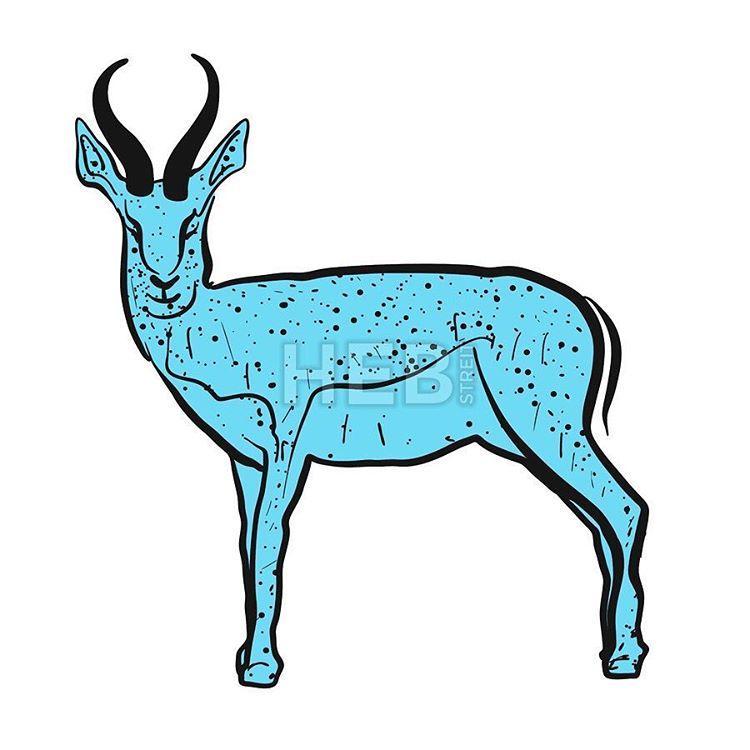 Hebstreits — Antelope Springbok blue, Hand.