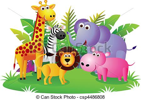 Vector of animal cartoon csp4486808.