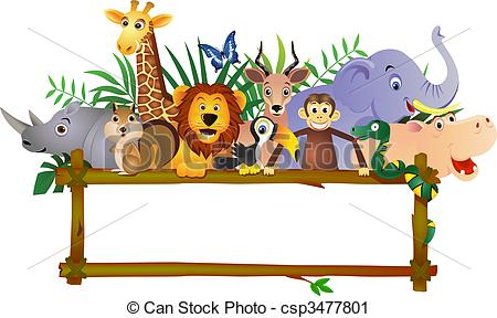 Vector Clip Art of Animal cartoon csp3477801.