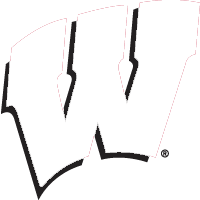 Showing post & media for Black and white wisconsin badgers symbol.