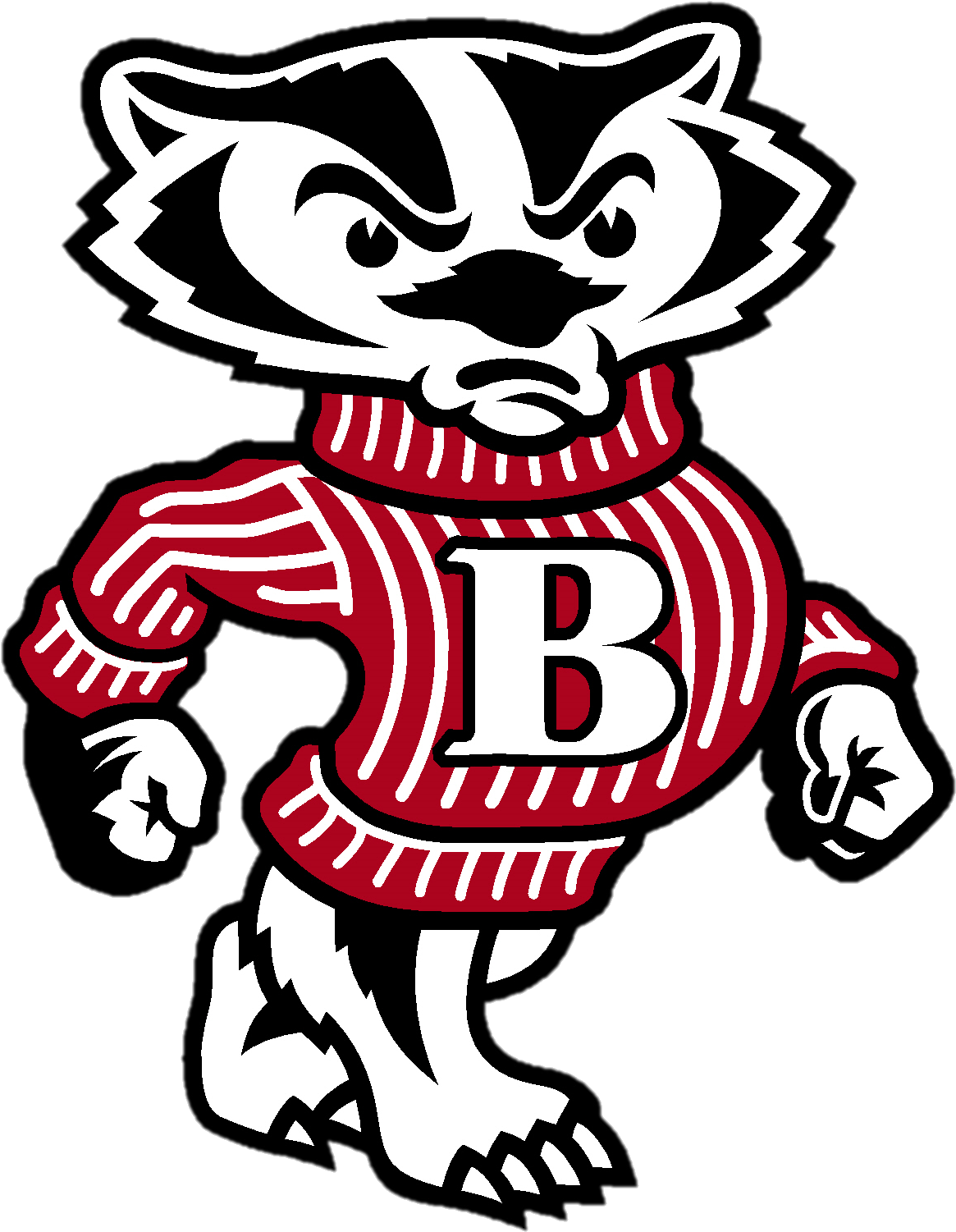 Bucky Badger Clipart.