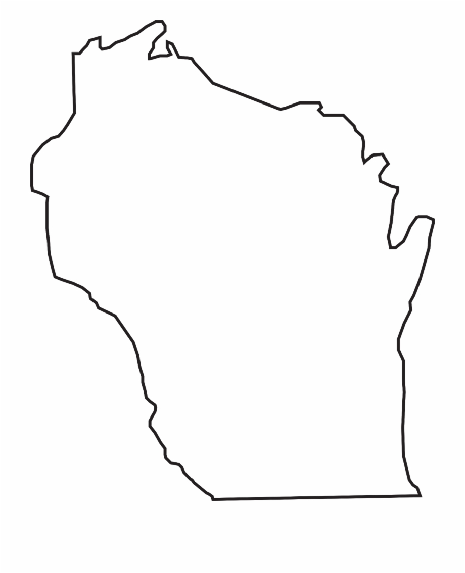 Wisconsin State Outline Free PNG Images & Clipart Download #2343998.