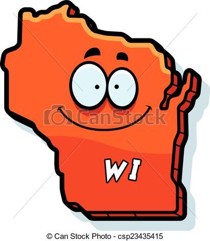 Vector Clip Art of Cartoon Wisconsin.