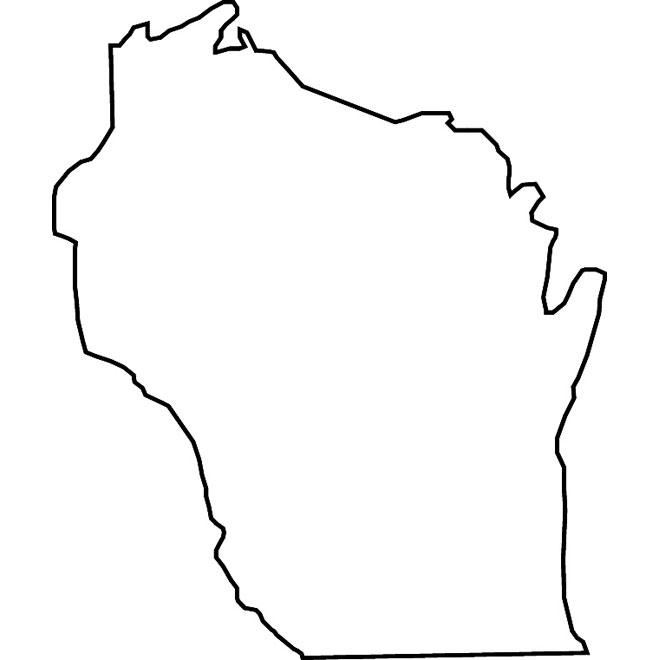 WISCONSIN VECTOR MAP.