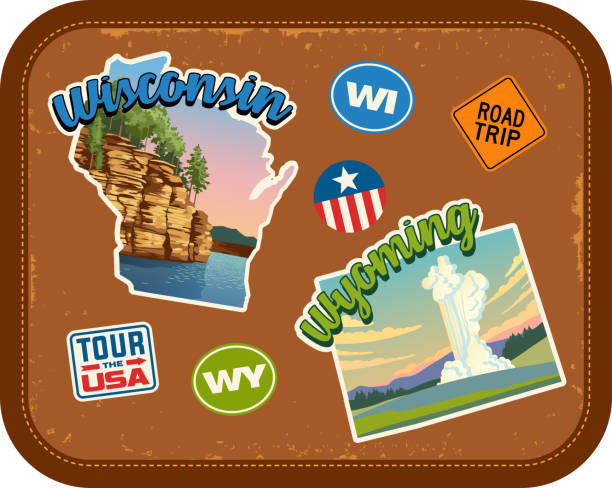 Best Wisconsin Landscape Illustrations, Royalty.