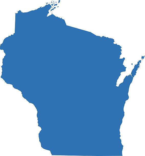 Best Wisconsin Map Illustrations, Royalty.