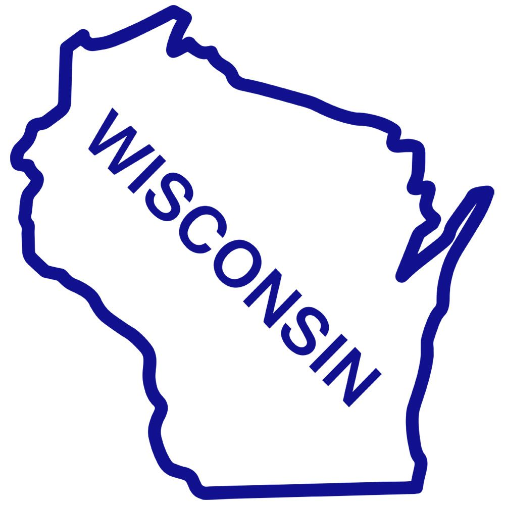 Wisconsin State Outline Clip Art.