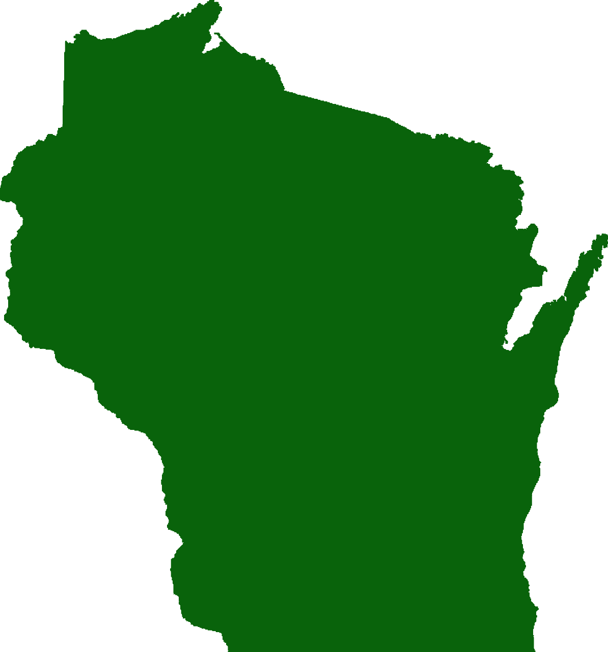 Wisconsin Map silhouette.