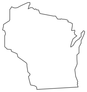 Wisconsin Map Vector.