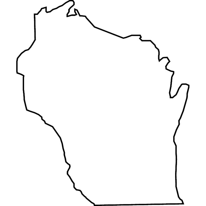 Wisconsin vector map.