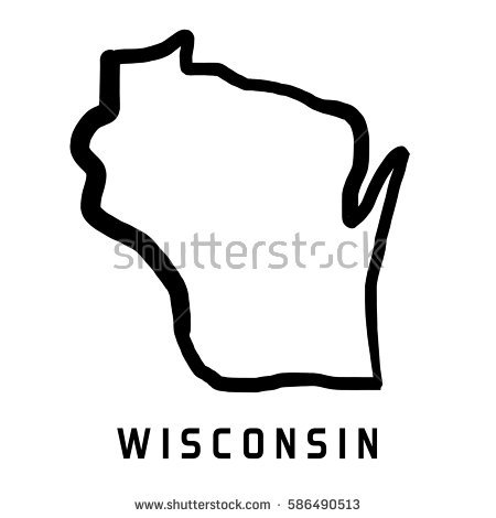 Wisconsin Outline Stock Images, Royalty.