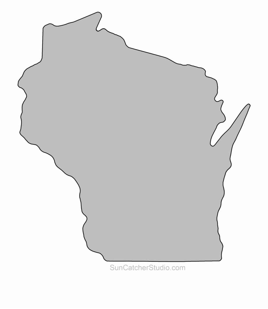 Wisconsin Outline Clip Art Pattern Printable Downloadable.