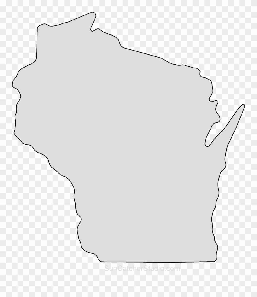 Wisconsin Map Outline Png Shape State Stencil Clip.