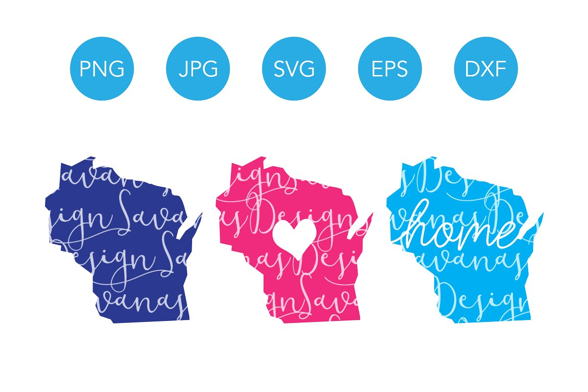 Wisconsin SVG Cut Files and Clipart.