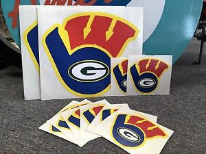 Details about durable WISCONSIN SPORTS DECAL\\STICKER trilogo GREEN BAY  PACKERS brewers BADGERS.