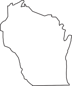 Wisconsin Outline Clip Art at Clker.com.