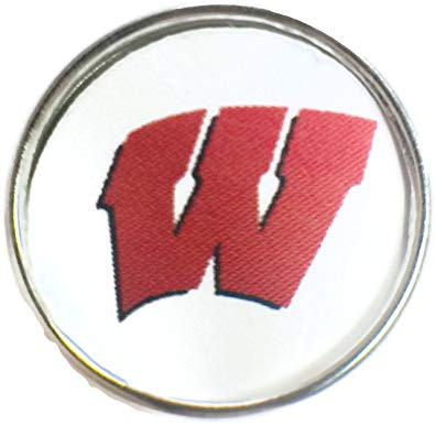 Amazon.com: Snap Jewelry Wisconsin Badgers College Logo.