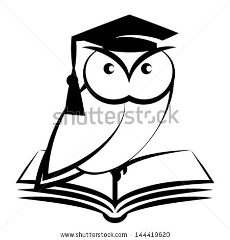 Wise Owl Clipart Black And White