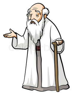 Old Chinese Man Clipart.
