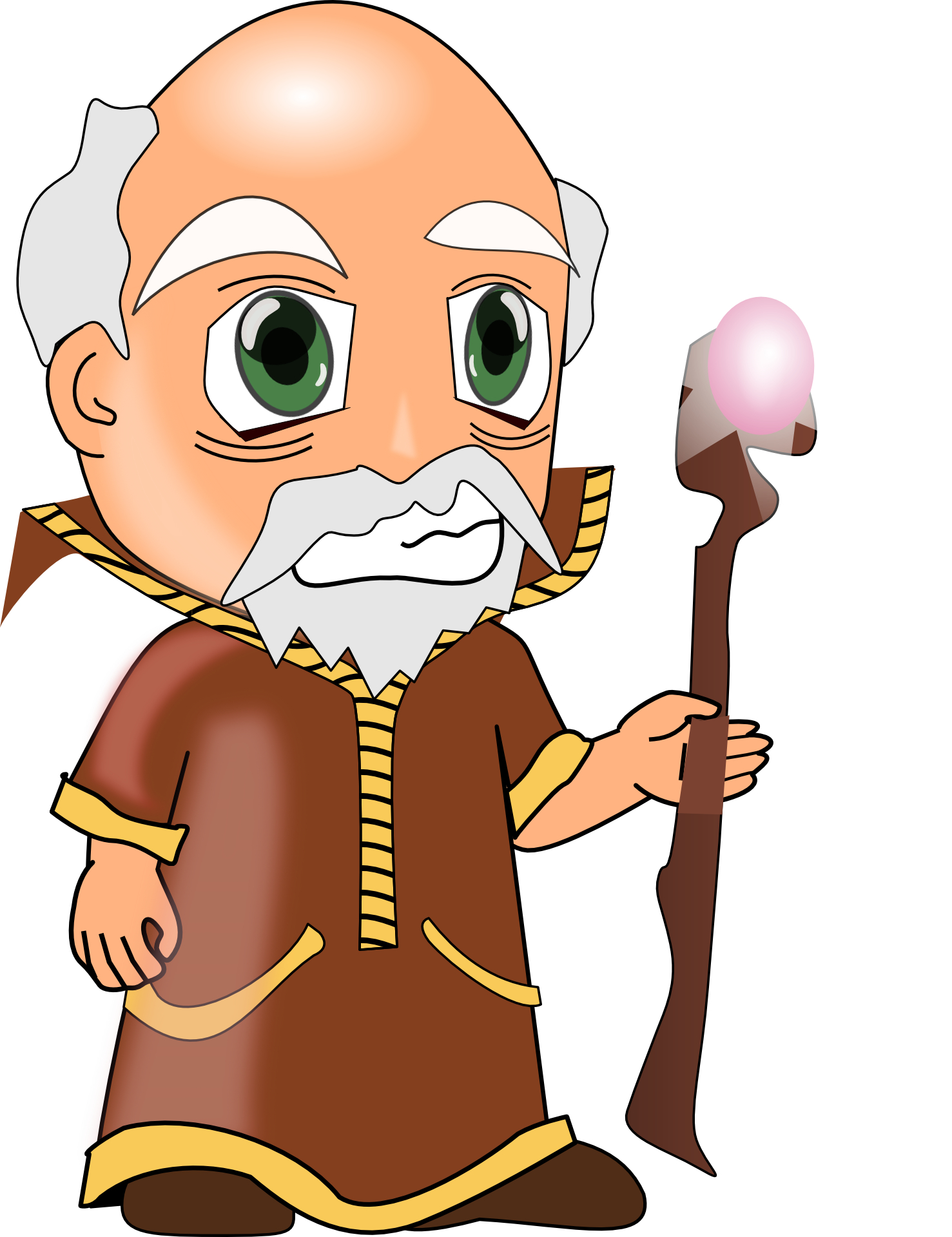 Cartoon people,wise old man vector.