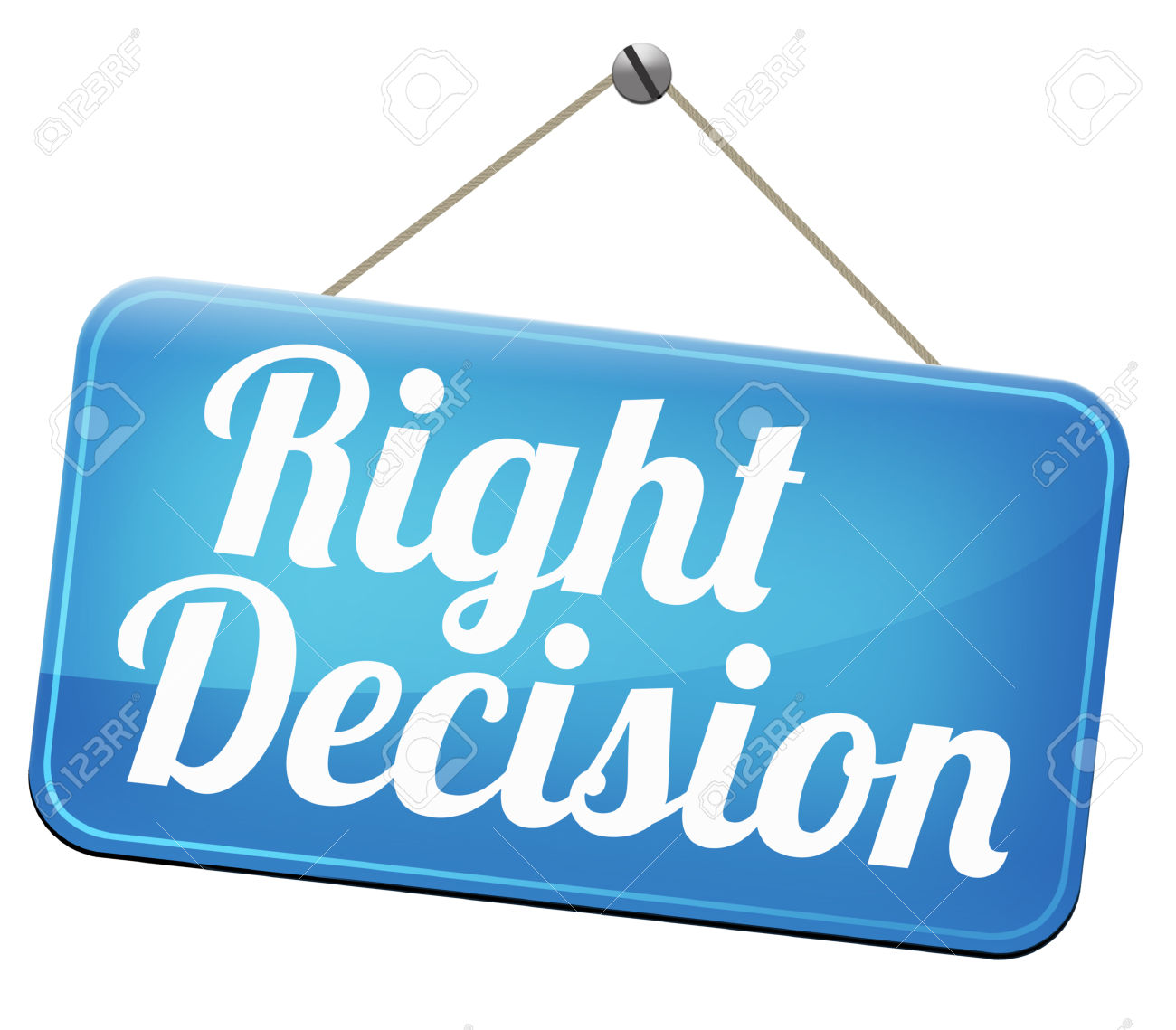 Right Way Choice Decision Or Direction For Answers On Questions.
