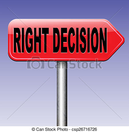 Clip Art of right decision or choice.
