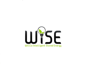 WISE logo design for energy company.