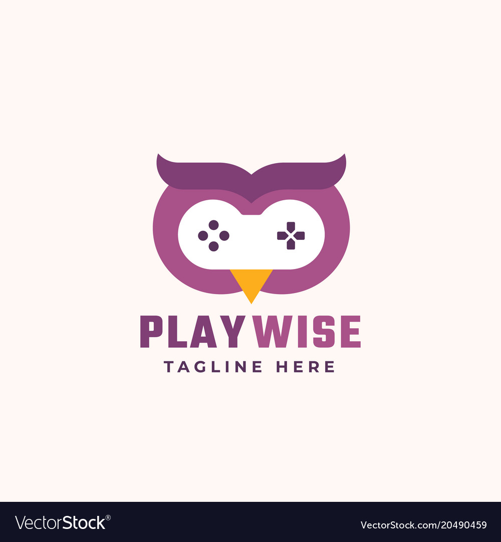 Play wise abstract sign symbol or logo.