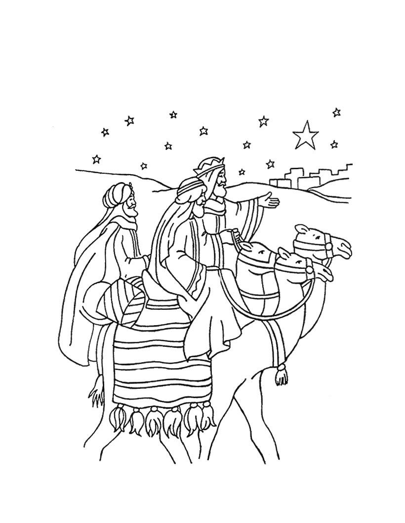 Free The Three Kings Men Coloring Pages, Download Free Clip.