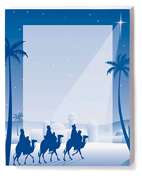 Amazon.com: Religious Holiday Stationery, Wise Men, 8.5 x 11.