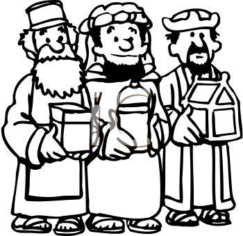 Wise men clipart.