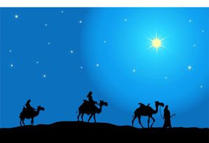 By Pam New Christmas Clipart Three Wise Men Following The.