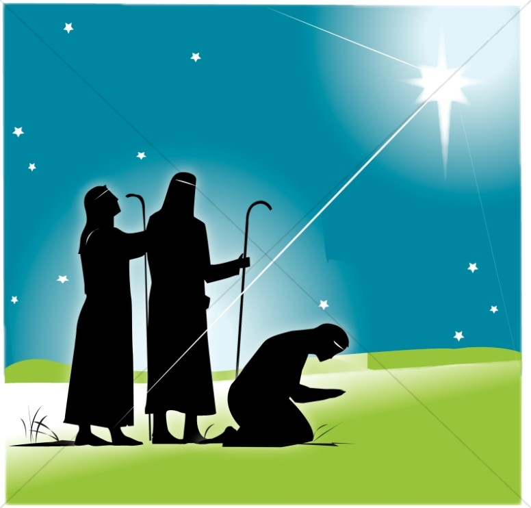 Wise Men and the Star Clipart.