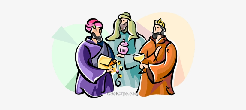 3 Wise Men Epiphany Royalty Free Vector Clip Art.