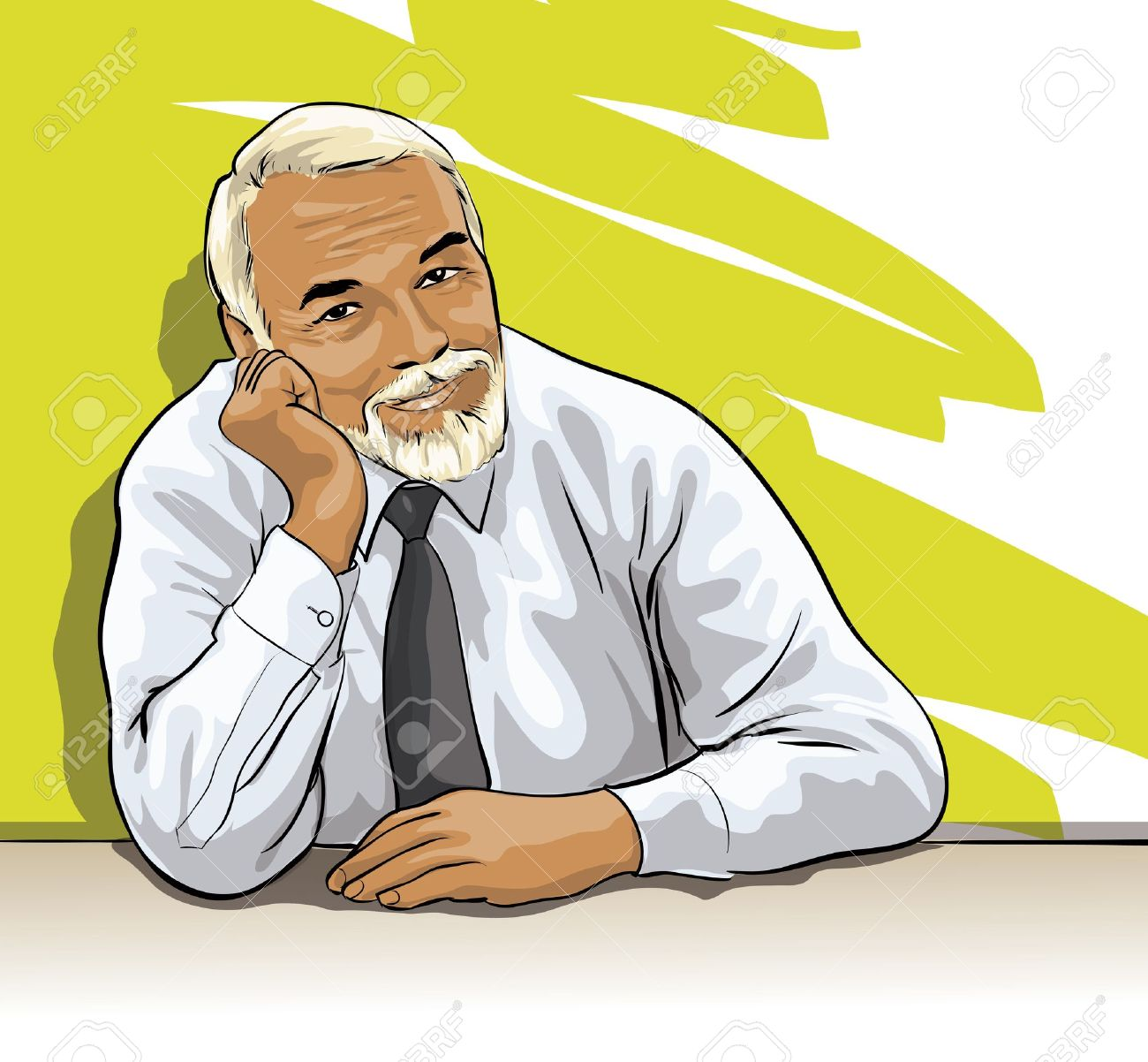 Wise Old Man With Beard Clipart.