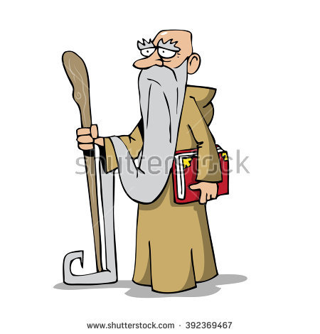 Old Man Long Beard Stock Images, Royalty.