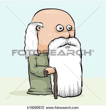 Clipart of Wise Old Man k19292672.