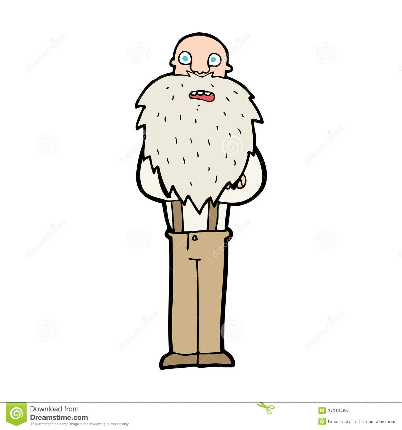 Old Man With A Beard Clipart.