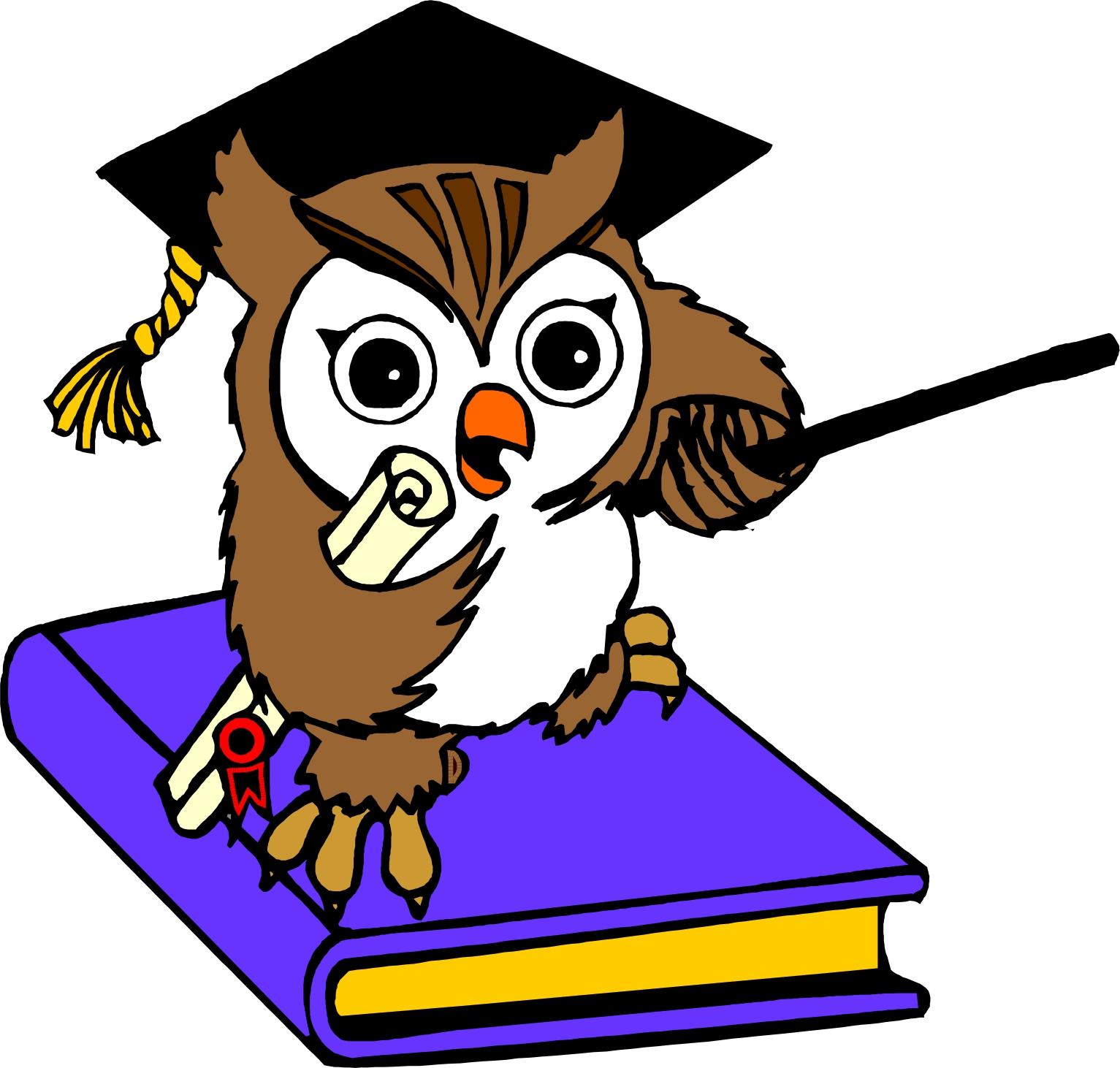 Wise Owl Cartoon.