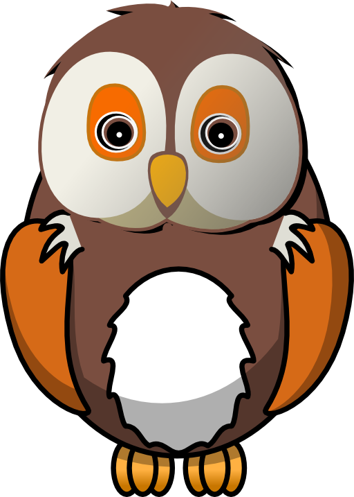 Cute Wise Owl Clipart.