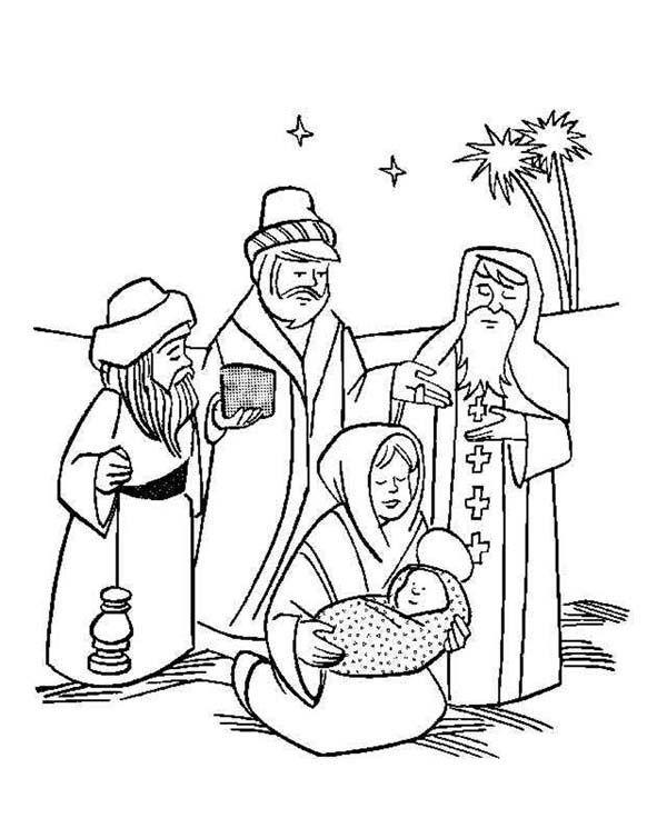 Baby Jesus, : Three Wise Men Christmas in Baby Jesus.