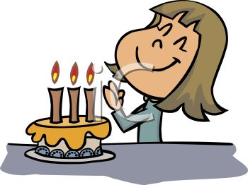 Making A Wish Clipart.
