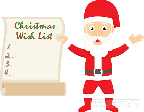 Christmas wish list clipart.