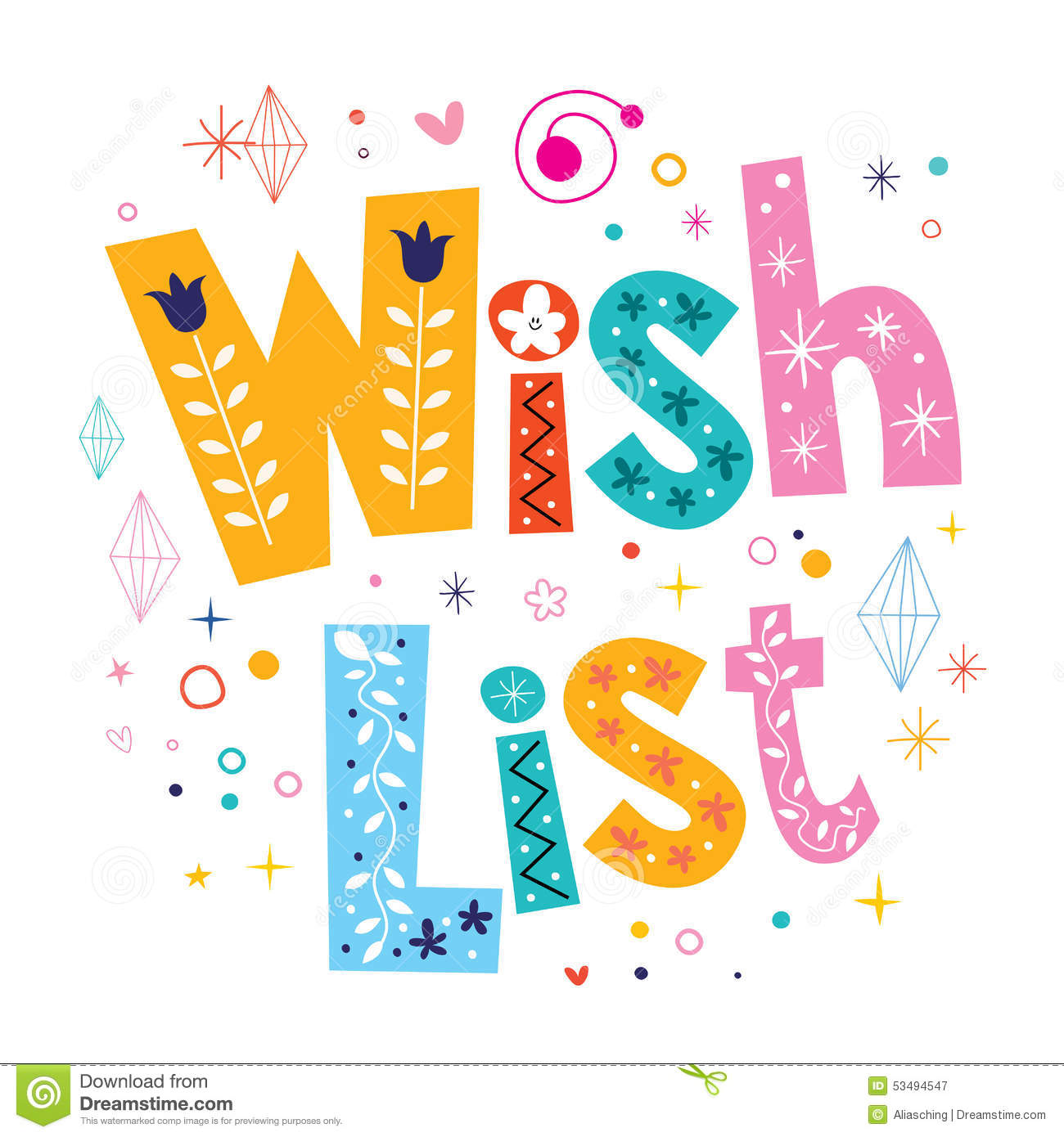 Free Clipart Wish List.