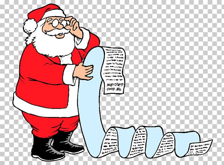 Santa Claus Christmas Wish list , santa claus PNG clipart.