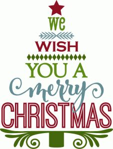 Wish you a merry christmas clipart images.