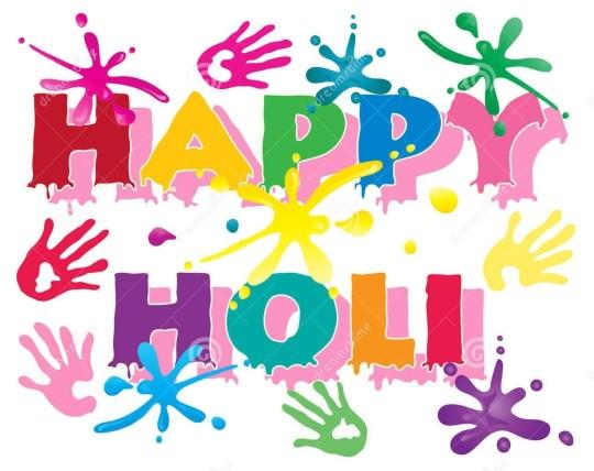 Wish you happy holi clipart.
