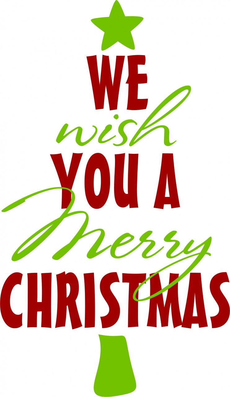 Printable Clip Art Of We Wish You A Merry Christmas From.