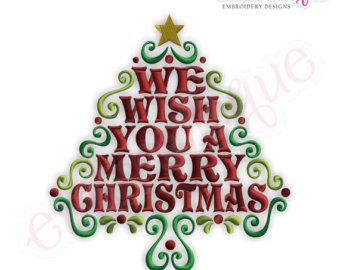 Merry Christmas Word Art We Wish You A Merry Christmas Word Tree.